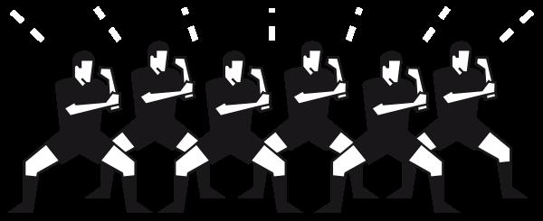 image illustarnt un haka fait par des rugbymans