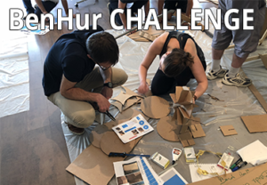 photo illustrant le teambuilding Benhur Challenge