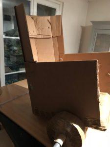 image illustrant un char en carton pour un teambuilding